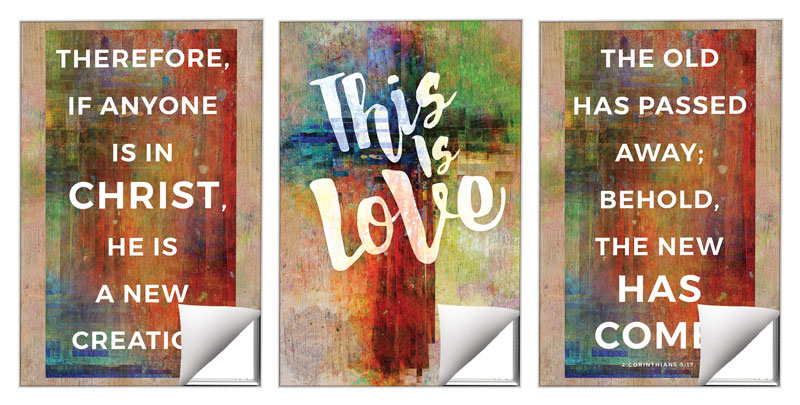 Wall Art, This is Love 2 Cor 5:17, 24 x 36