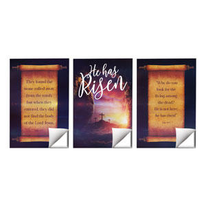 Dramatic Tomb Easter Triptych 24 x 36 Quick Change Art