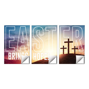Easter Hope Outline Triptych 24 x 36 Quick Change Art