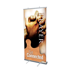 "Get Connected Prayer 4' x 6'7"" Vinyl Banner"
