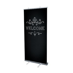 "Chalk Welcome 4' x 6'7"" Vinyl Banner"