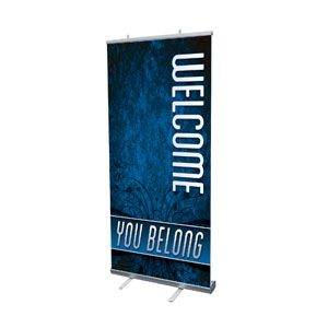 "You Belong Welcome 4' x 6'7"" Vinyl Banner"