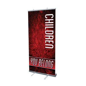 "You Belong Children 4' x 6'7"" Vinyl Banner"
