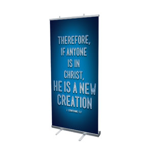 "Words 2 Cor 5:17 4' x 6'7"" Vinyl Banner"