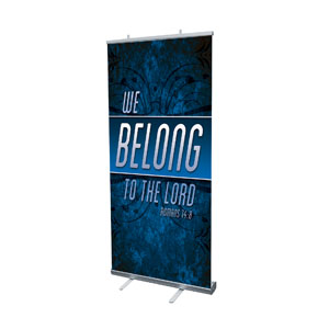 "We Belong to the Lord 4' x 6'7"" Vinyl Banner"
