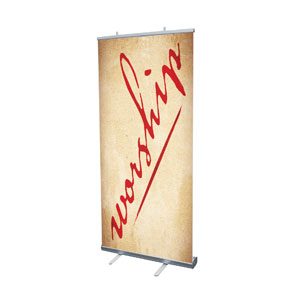 Red Script Worship Banners