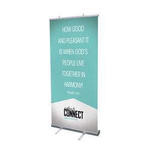 "Place To Connect Ps 133:1 4' x 6'7"" Vinyl Banner"