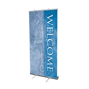 "Cross Welcome 4' x 6'7"" Vinyl Banner"
