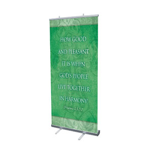 "Cross Ps 133:1 4' x 6'7"" Vinyl Banner"