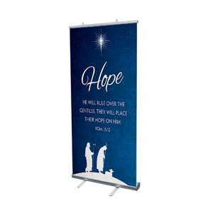 "Advent Hope 4' x 6'7"" Vinyl Banner"