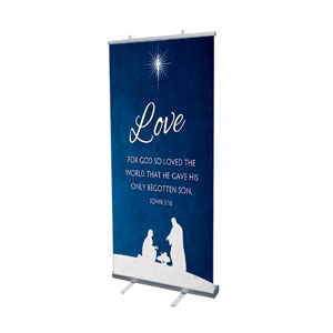 "Advent Love 4' x 6'7"" Vinyl Banner"