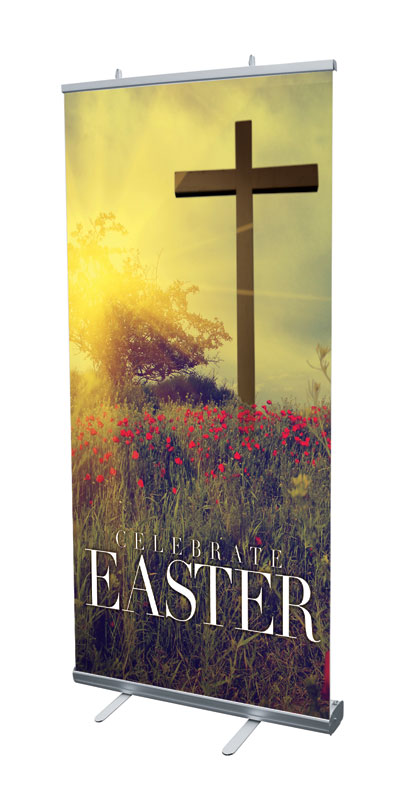 Banners, Easter, Celebrate Easter Cross, 4' x 6'7