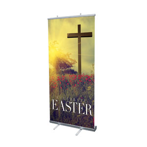 "Celebrate Easter Cross 4' x 6'7"" Vinyl Banner"