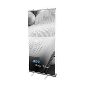 "Believe: Think 4' x 6'7"" Vinyl Banner"