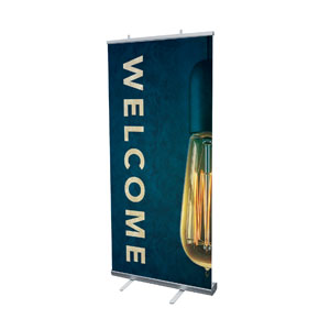 "Retro Light Welcome 4' x 6'7"" Vinyl Banner"