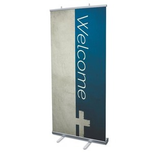"Color Block Welcome 4' x 6'7"" Vinyl Banner"