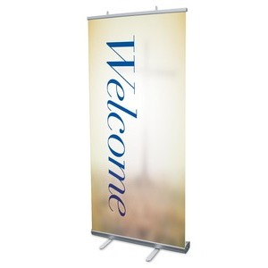 "Traditions Welcome 4' x 6'7"" Vinyl Banner"