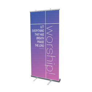 "Color Wash Worship 4' x 6'7"" Vinyl Banner"