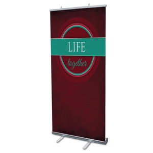 "Together Circles Life 4' x 6'7"" Vinyl Banner"