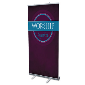 "Together Circles Worship 4' x 6'7"" Vinyl Banner"