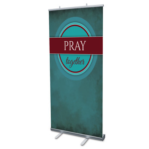 "Together Circles Pray 4' x 6'7"" Vinyl Banner"