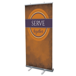 "Together Circles Serve 4' x 6'7"" Vinyl Banner"