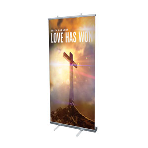 "Love Has Won 4' x 6'7"" Vinyl Banner"