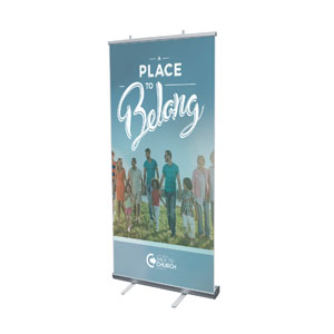 "Back to Church Sunday: A Place to Belong 4' x 6'7"" Vinyl Banner"
