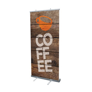 "Shiplap Coffee Natural 4' x 6'7"" Vinyl Banner"