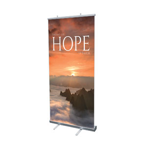 "Hope Mountains 4' x 6'7"" Vinyl Banner"
