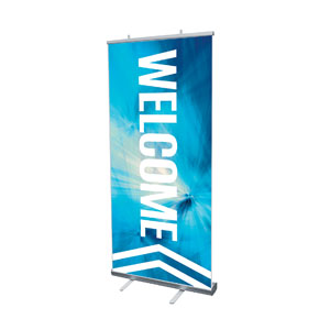 Chevron Welcome Blue Banners