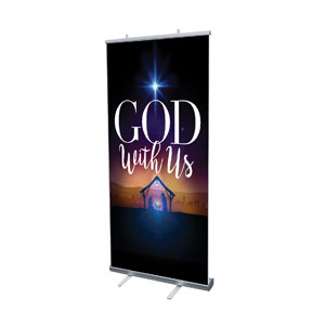 "God With Us Advent 4' x 6'7"" Vinyl Banner"