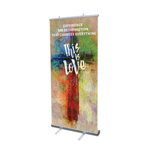 "This is Love Easter 4' x 6'7"" Vinyl Banner"