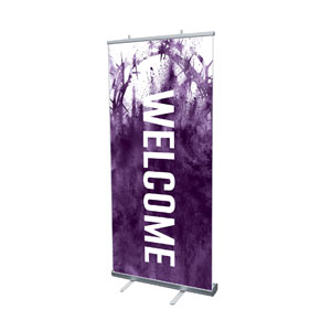 "Purple Powder Crown 4' x 6'7"" Vinyl Banner"
