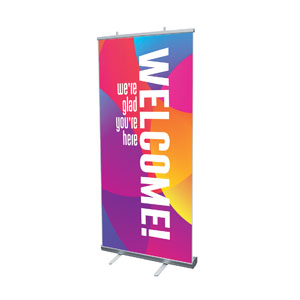 "Curved Colors Welcome 4' x 6'7"" Vinyl Banner"