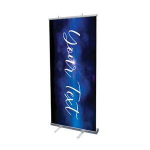 "Celebrate Christmas Blue Sparkle Your Text 4' x 6'7"" Vinyl Banner"