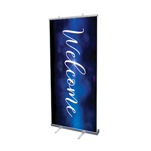 "Celebrate Christmas Blue Sparkle Welcome 4' x 6'7"" Vinyl Banner"