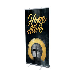 "Hope Is Alive Gold 4' x 6'7"" Vinyl Banner"