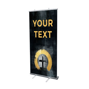 "Hope Is Alive Gold Your Text 4' x 6'7"" Vinyl Banner"
