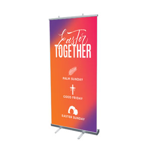 "Easter Together Hues 4' x 6'7"" Vinyl Banner"