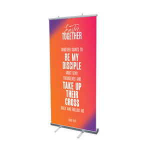 "Easter Together Hues Scripture 4' x 6'7"" Vinyl Banner"