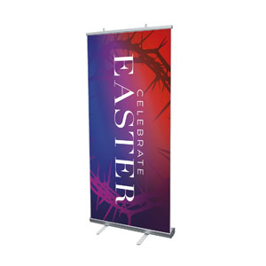 "Celebrate Easter Crown 4' x 6'7"" Vinyl Banner"