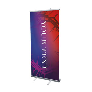 "Celebrate Easter Crown Your Text 4' x 6'7"" Vinyl Banner"