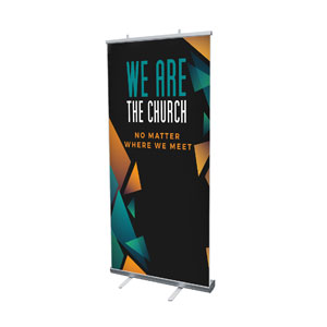 "We Are The Church 4' x 6'7"" Vinyl Banner"