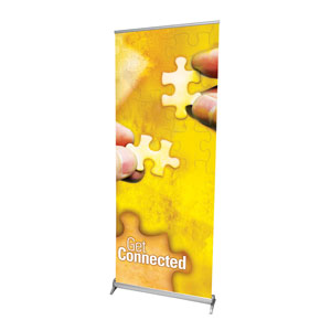 "Get Connected 2'7"" x 6'7""  Vinyl Banner"