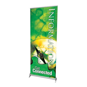 "Get Connected Information 2'7"" x 6'7""  Vinyl Banner"