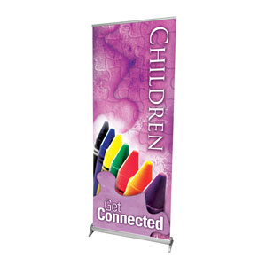 "Get Connected Children 2'7"" x 6'7""  Vinyl Banner"