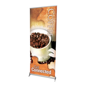 "Get Connected Coffee 2'7"" x 6'7""  Vinyl Banner"