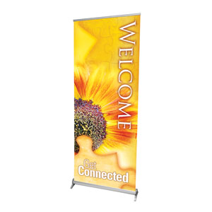 "Get Connected Welcome 2'7"" x 6'7""  Vinyl Banner"
