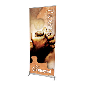 "Get connected Prayer 2'7"" x 6'7""  Vinyl Banner"